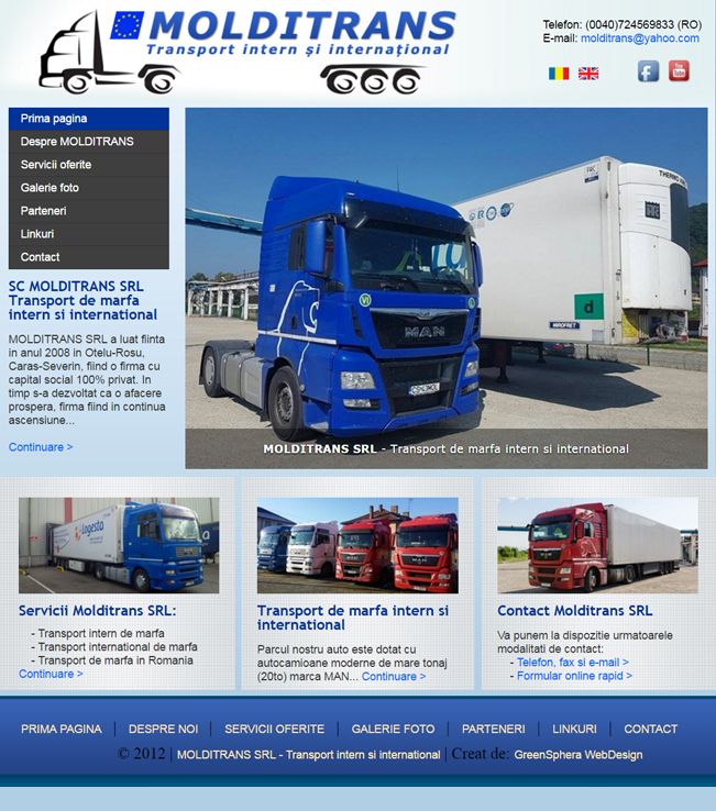 Molditrans, international freight throughout Europe